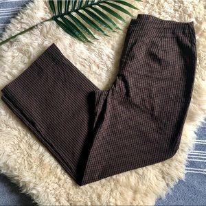 Wide leg gingham pants 🍂